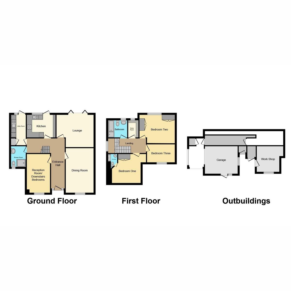 Floorplan 1 of Hawkwell Park Drive, Hockley, SS5