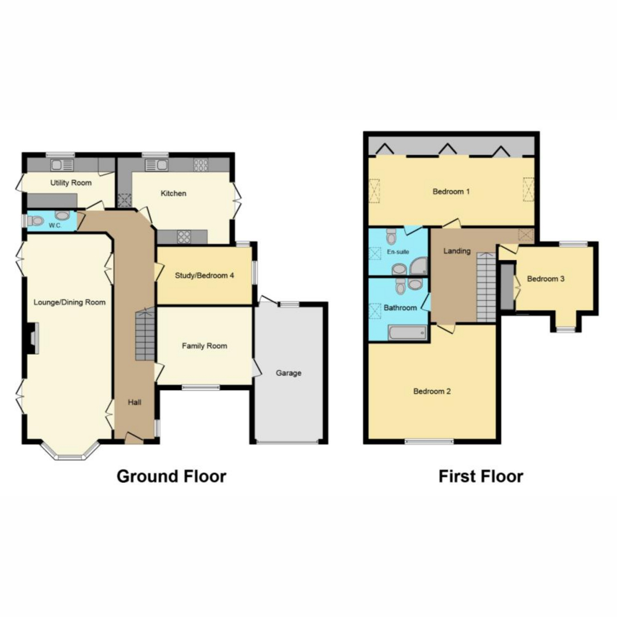 Floorplan 1 of Plumberow Mount Avenue, Hockley, SS5