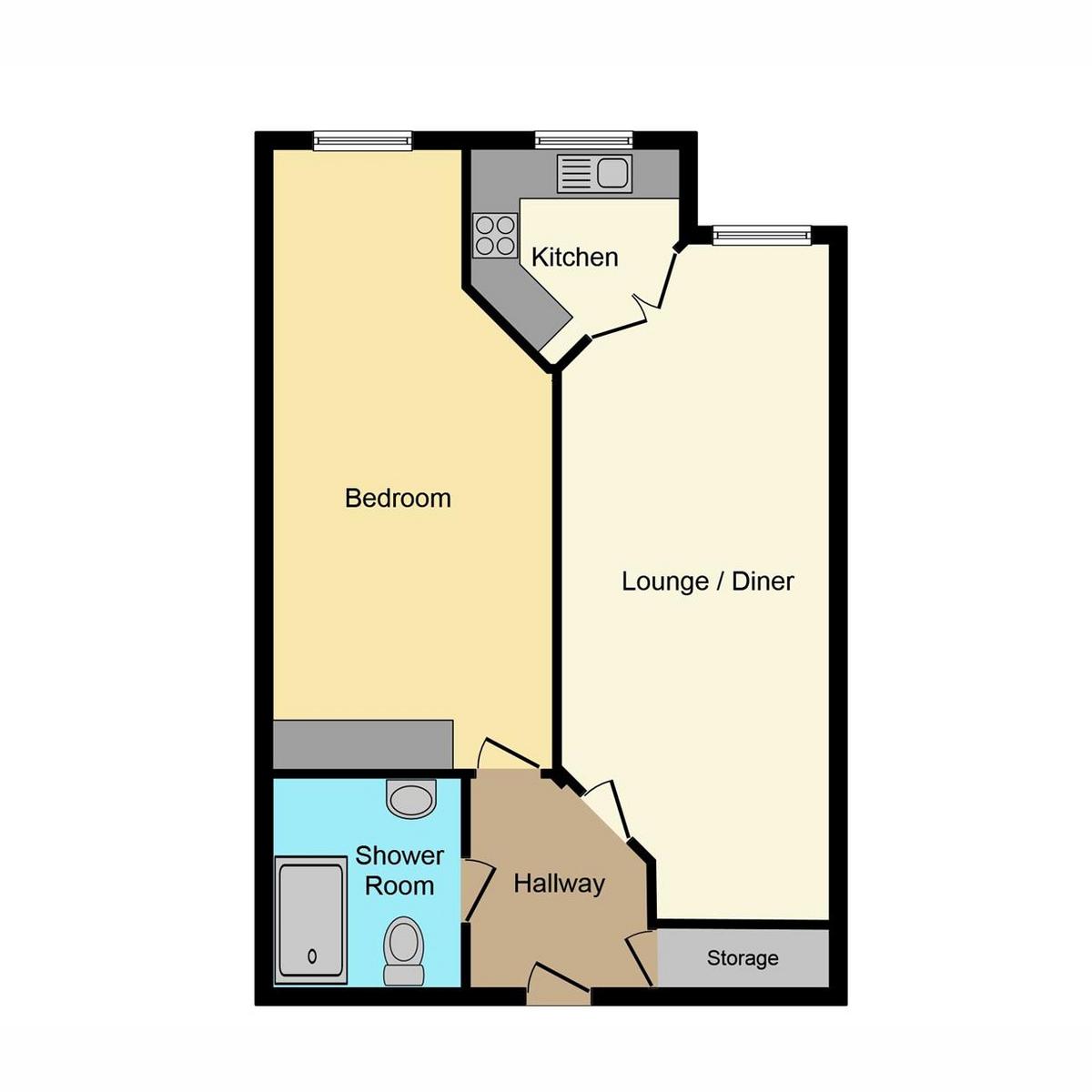 Floorplan 1 of Church Road, Hadleigh, SS7