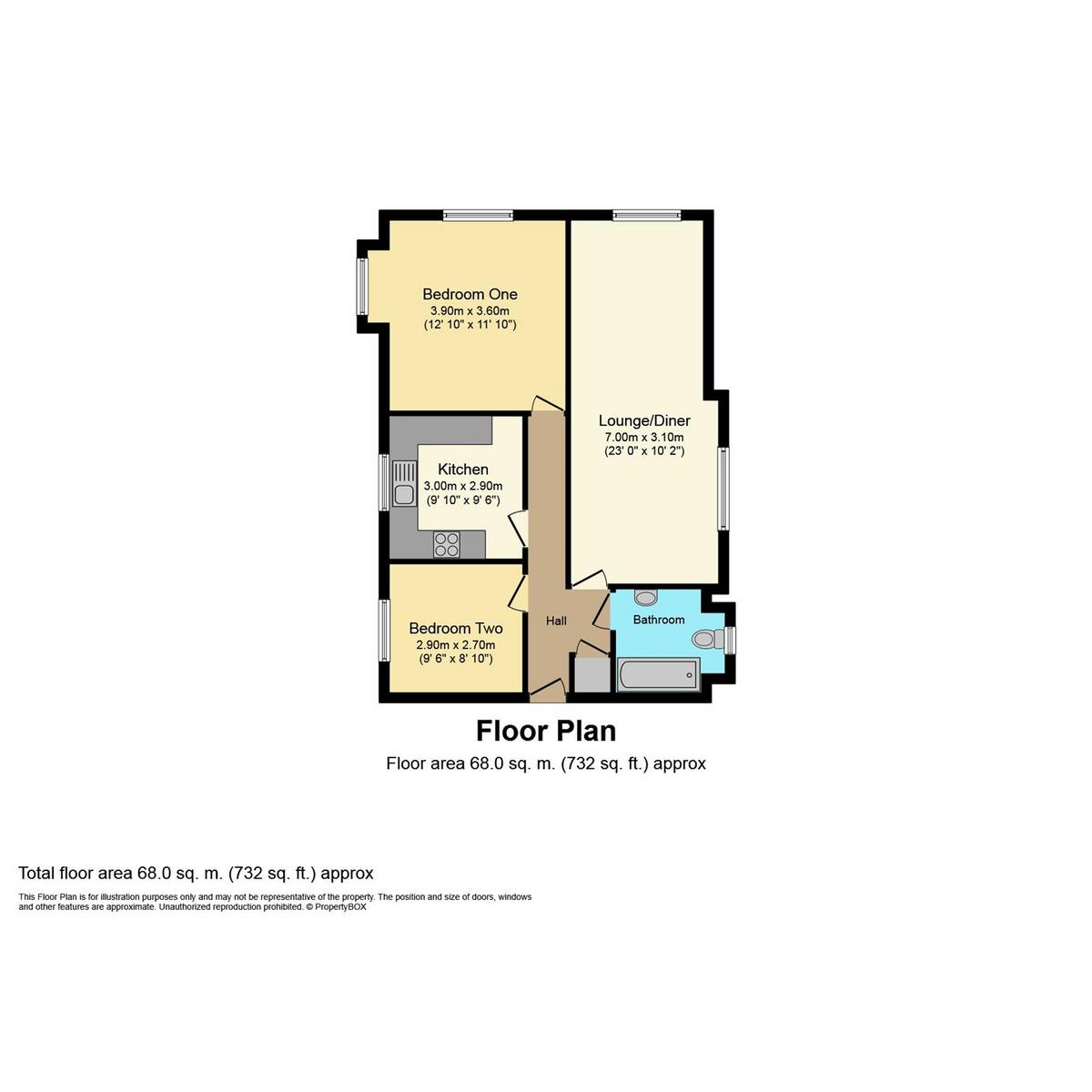 Floorplan 1 of Rayleigh Road, Benfleet, SS7