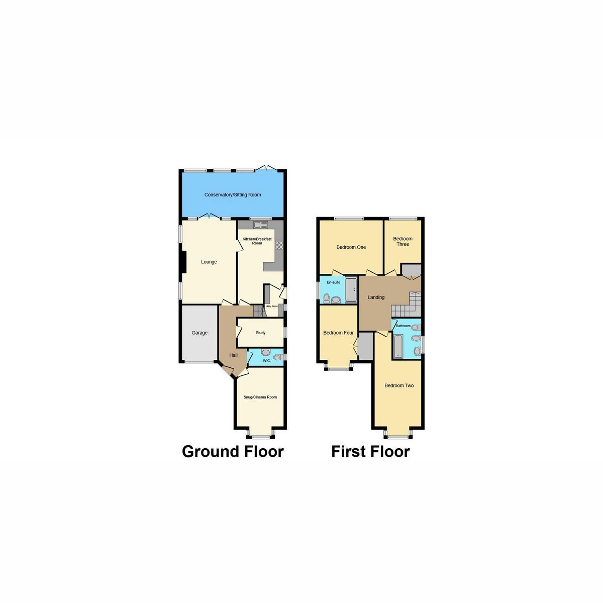 Floorplan 1 of Hillside Avenue, Hockley, SS5
