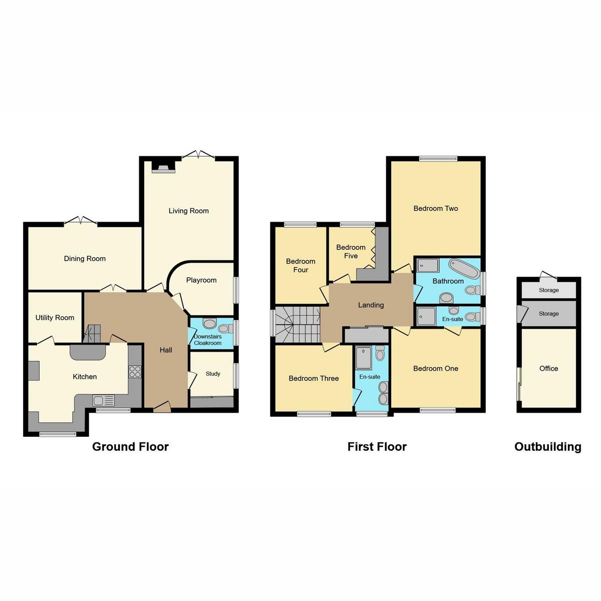 Floorplan 1 of Helena Road, Rayleigh, SS6