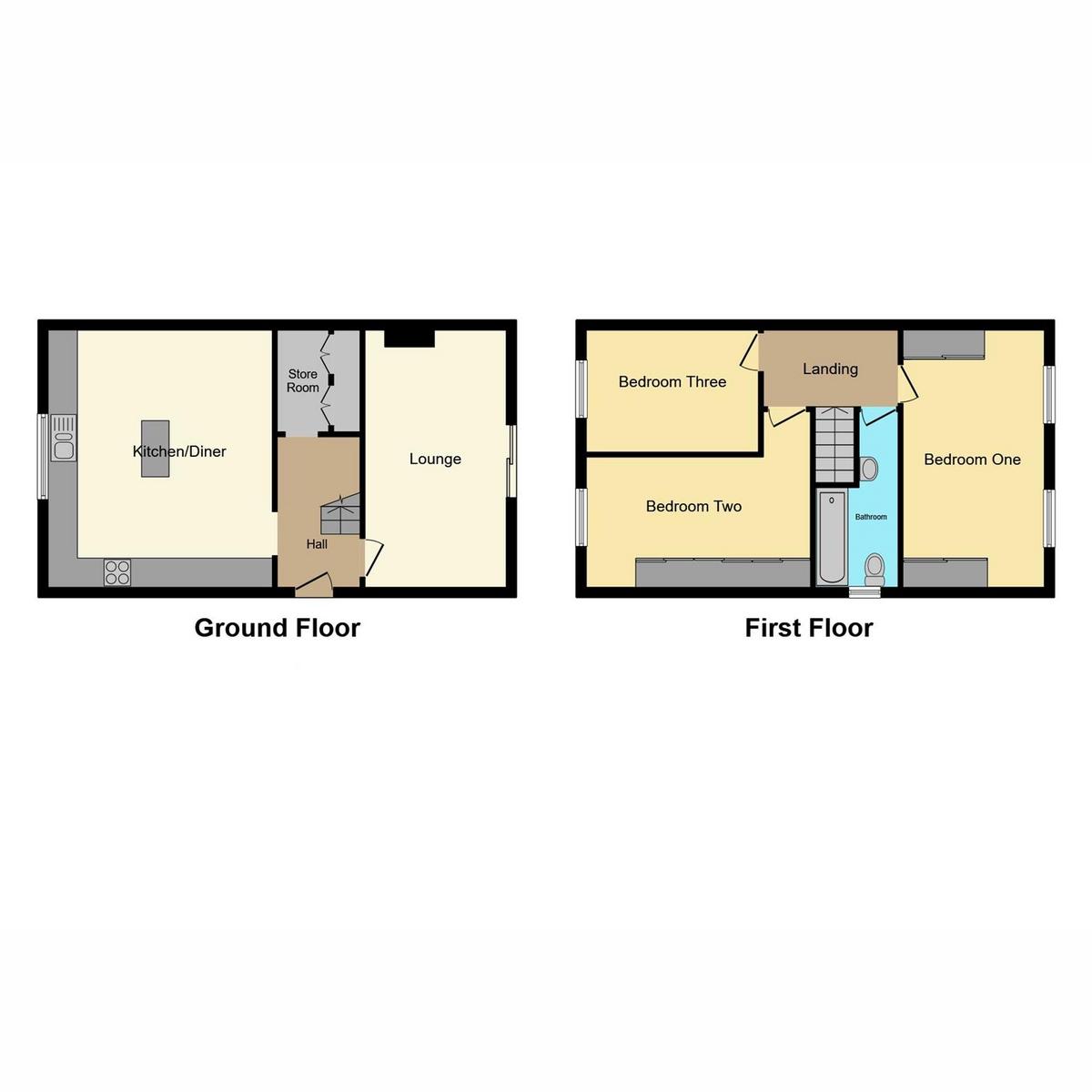 Floorplan 1 of Hawthorn Way, Rayleigh, SS6