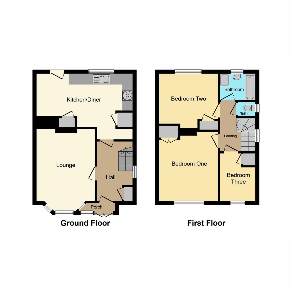Floorplan 1 of Denton Avenue, Westcliff-on-sea, SS0