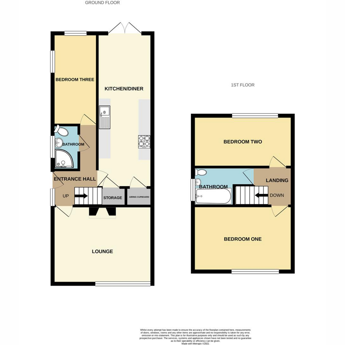 Floorplan 1 of Woodside Avenue, Benfleet, SS7
