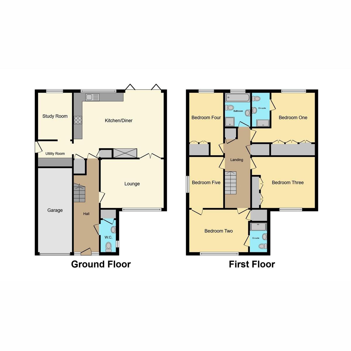 Floorplan 1 of Woodpond Avenue, Hockley, SS5