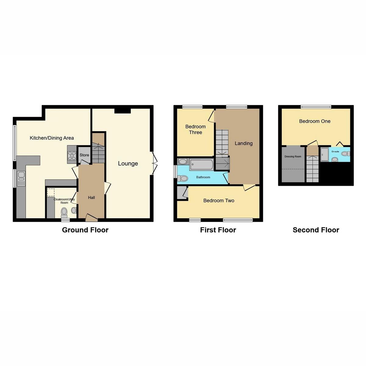 Floorplan 1 of Leslie Road, Rayleigh, SS6