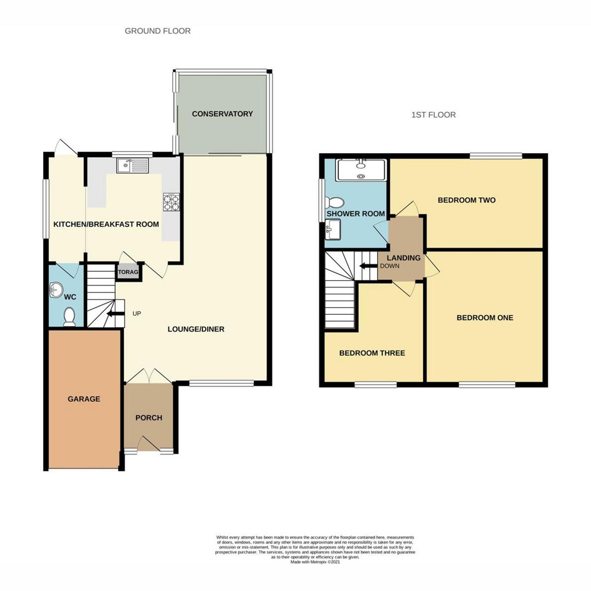 Floorplan 1 of Derwent Avenue, Rayleigh, SS6