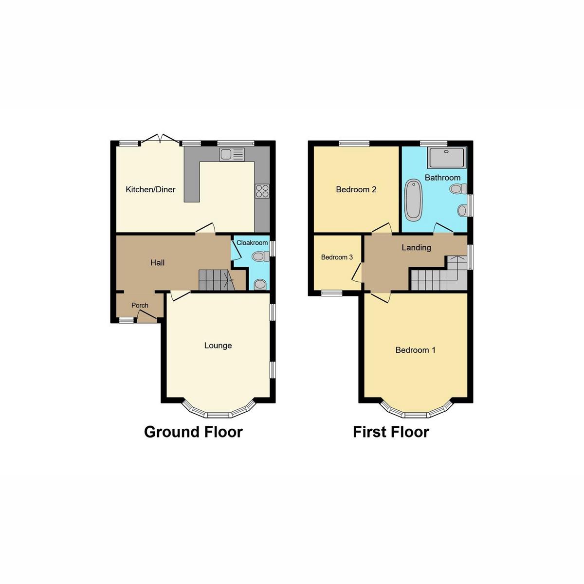 Floorplan 1 of Rutland Avenue, Southend-on-sea, SS1