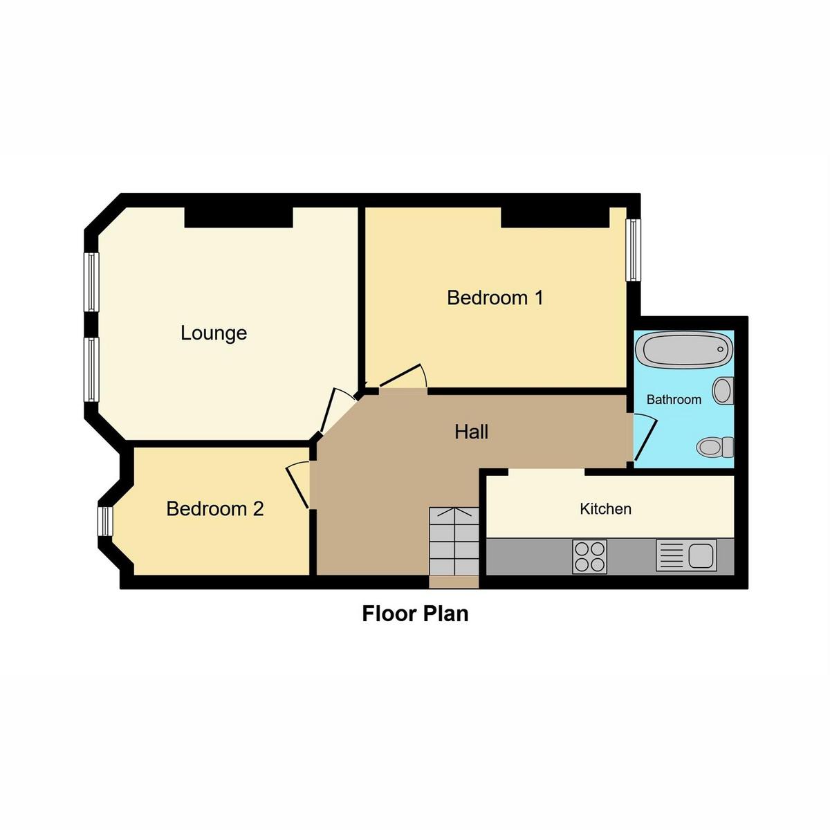 Floorplan 1 of Brunswick Road, Southend-on-sea, SS1