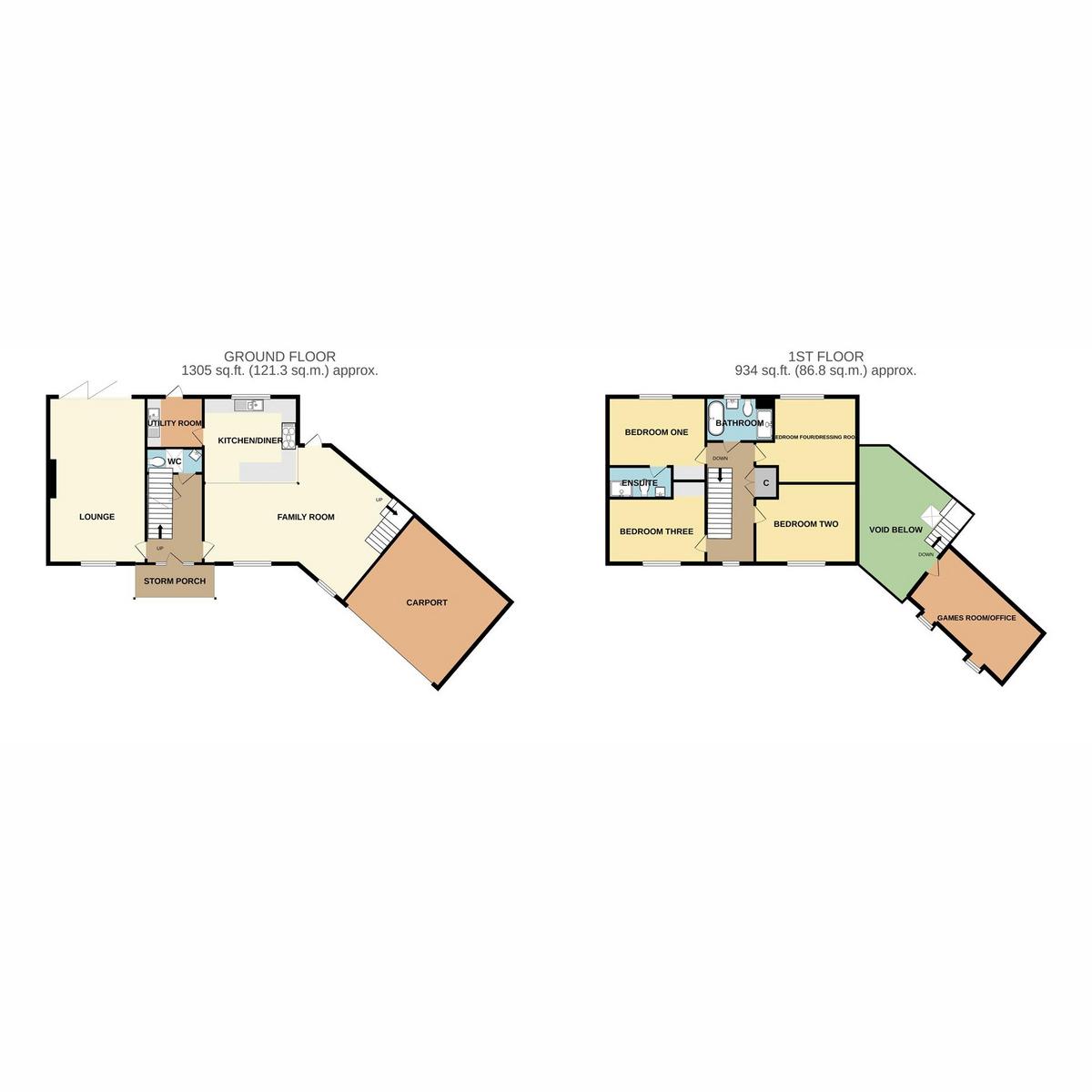 Floorplan 1 of Thundersley Park Road, Benfleet, SS7