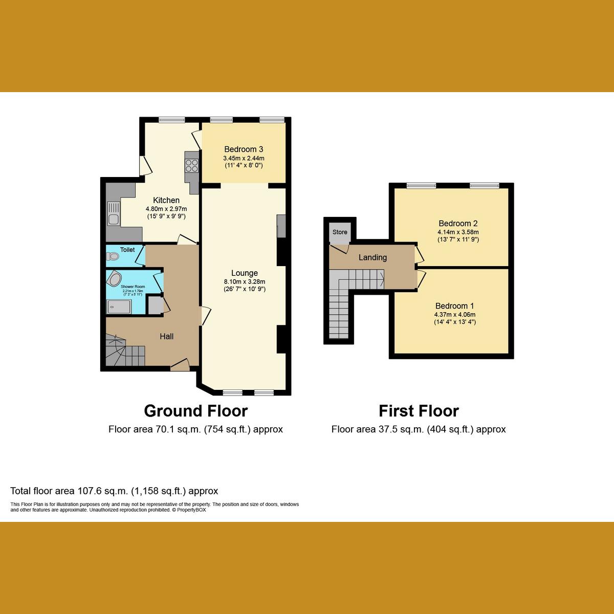 Floorplan 1 of Exford Avenue, Westcliff-on-Sea, SS0