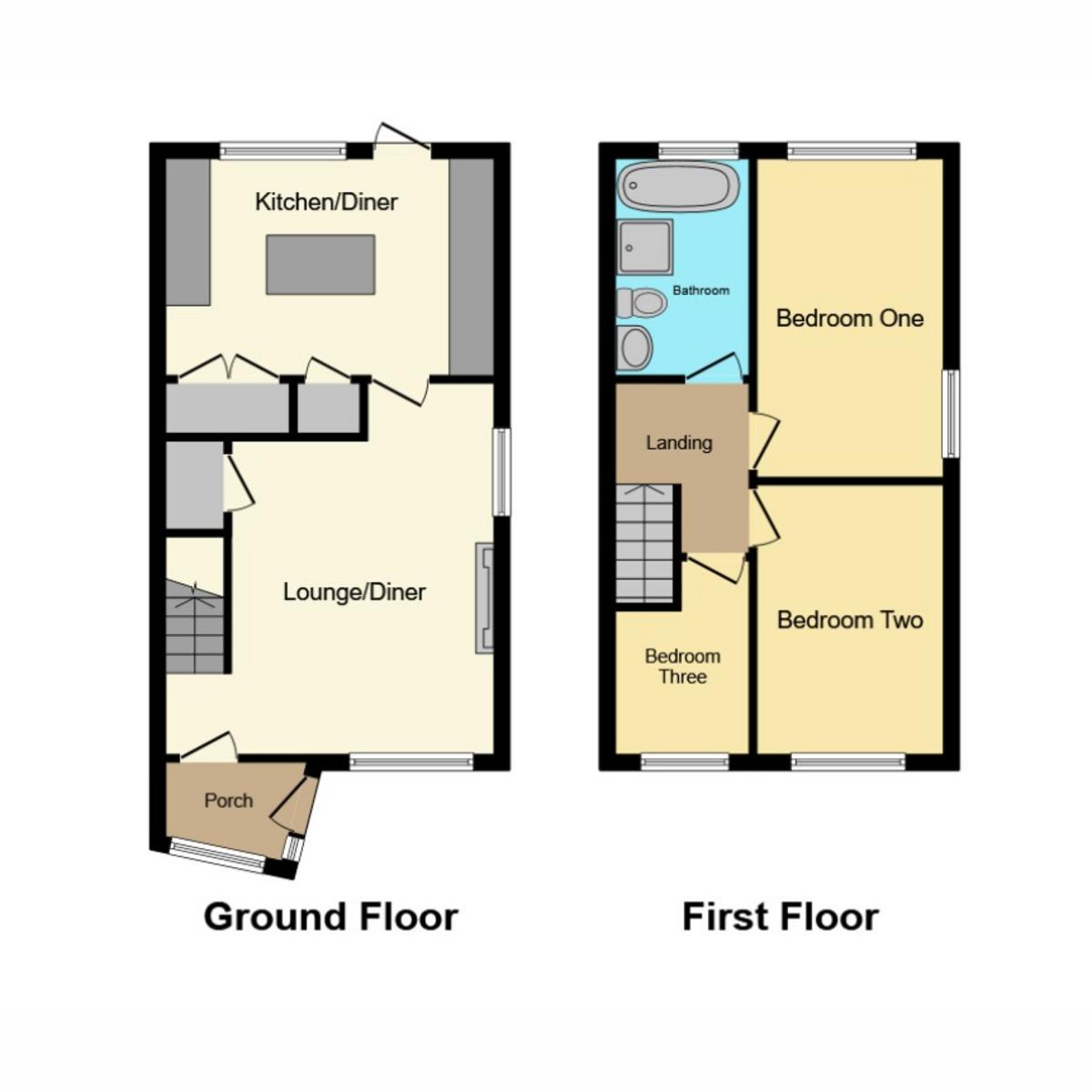 Floorplan 1 of Uplands Close, Benfleet, SS7