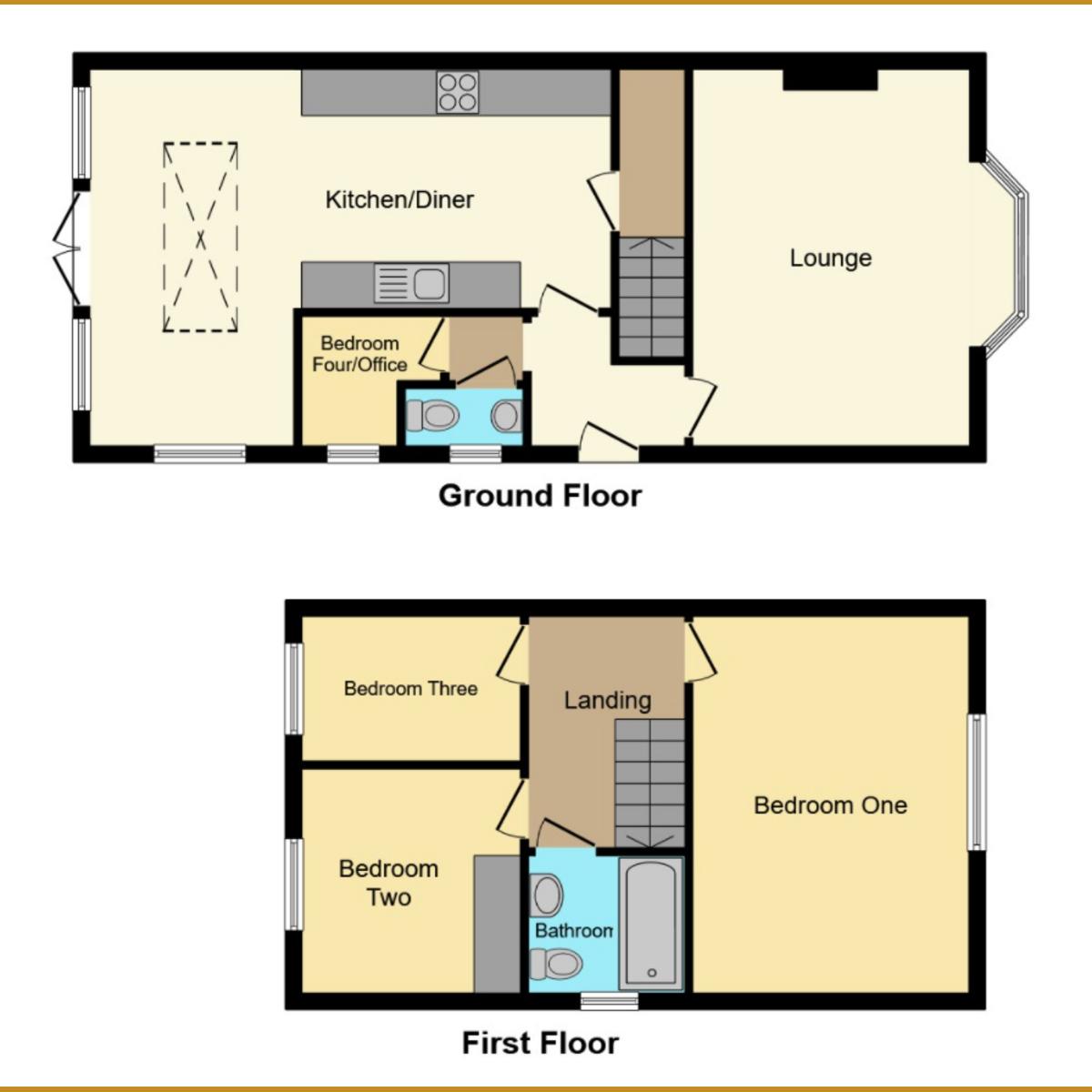 Floorplan 1 of New Park Road, Benfleet, SS7