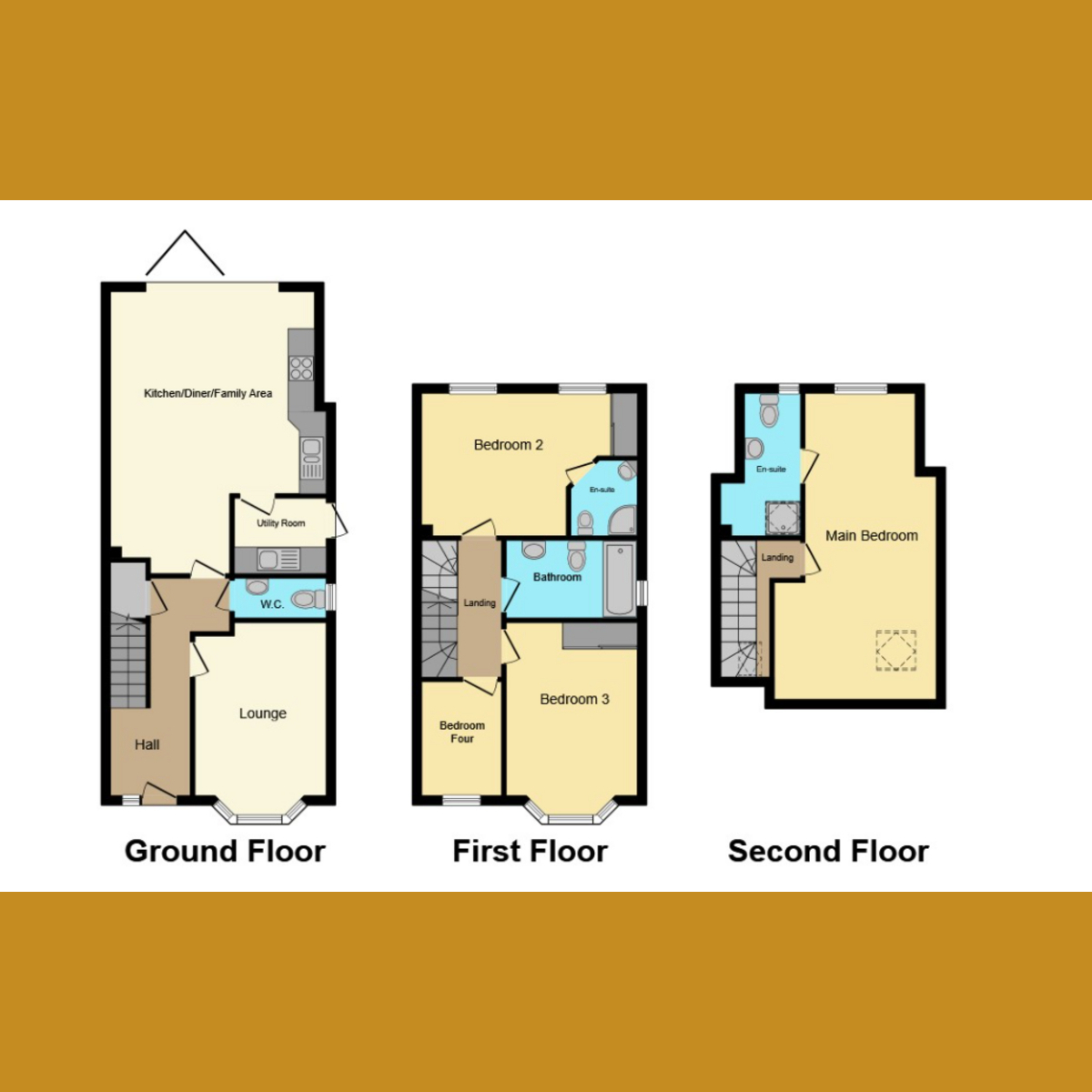 Floorplan 1 of Richmond Avenue, Essex, SS3