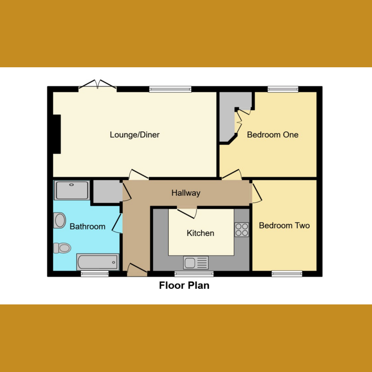 Floorplan 1 of Rayleigh Downs Road, Rayleigh, SS6