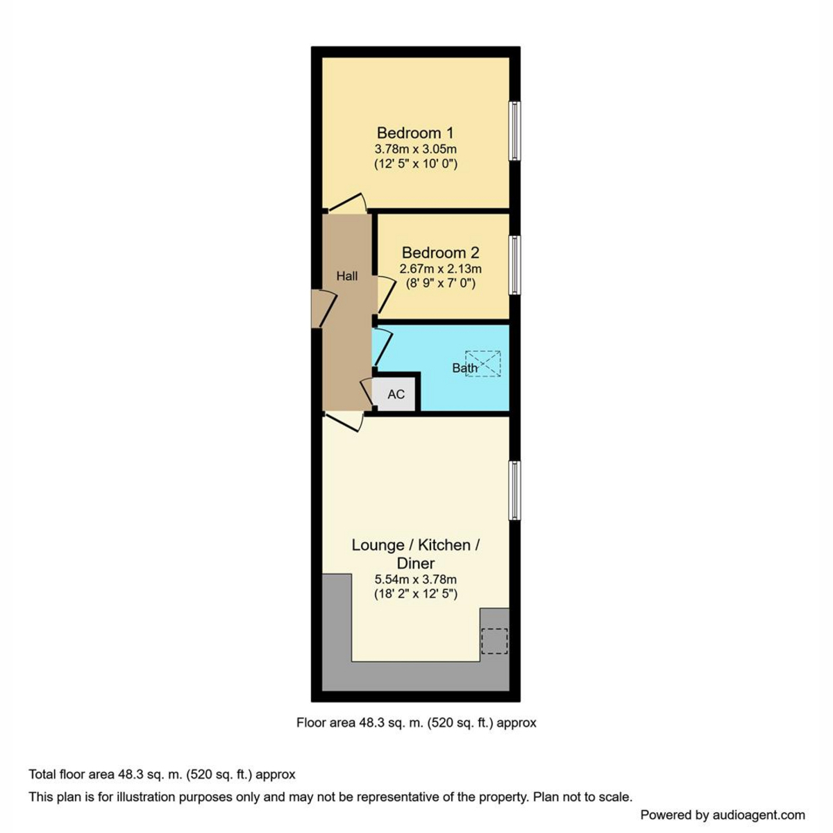 Floorplan 1 of Forge Way, Southend-On-Sea, SS1