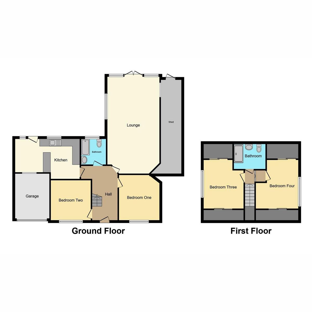 Floorplan 1 of Grosvenor Road, Benfleet, SS7