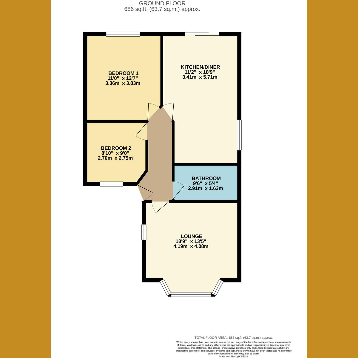 Floorplan 1 of Lyndale Avenue, Southend-on-sea, SS2