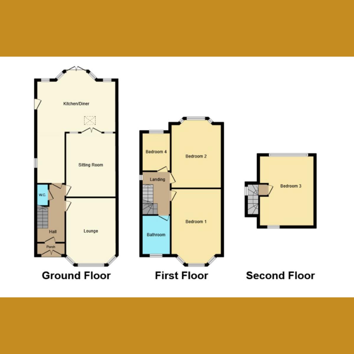 Floorplan 1 of Sunningdale Avenue, Leigh-on-sea, SS9