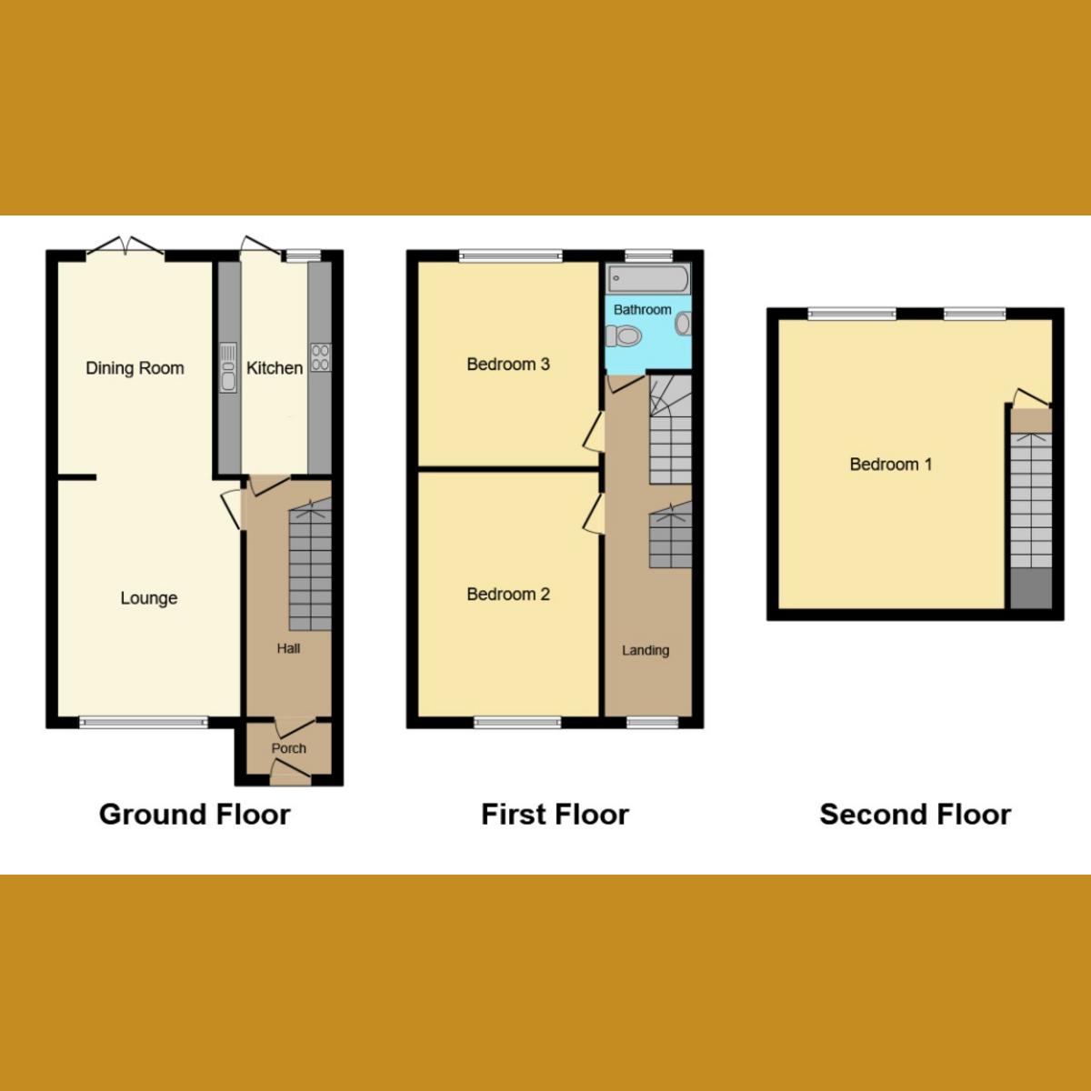 Floorplan 1 of Inverness Avenue, Essex, SS0