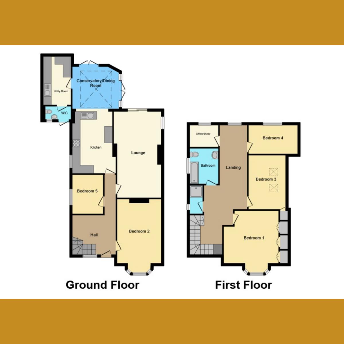 Floorplan 1 of Somerset Avenue, Westcliff-on-sea, SS0